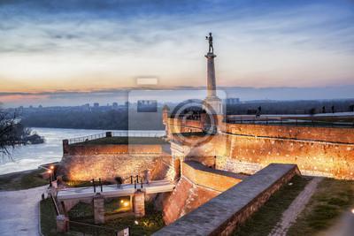 Naklejka Pomnik Zwycięstwa w stolicy Serbii, Belgradzie