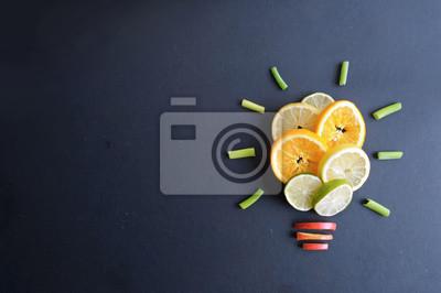 Naklejka Pomysły na zdrowe jedzenie