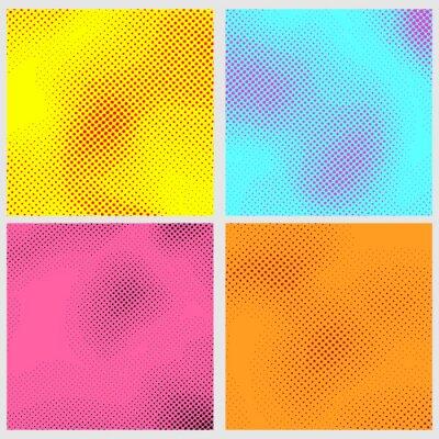 Abstrakcyjne kropki pop art