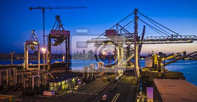 Naklejka Port w Durban, Republika Południowej Afryki.