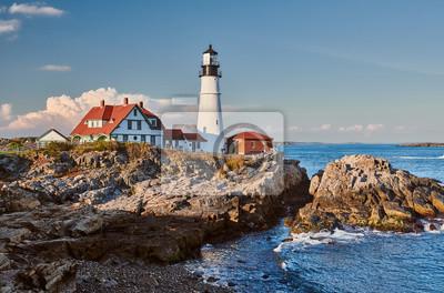 Naklejka Portland Head Lighthouse at Cape Elizabeth, Maine, USA.