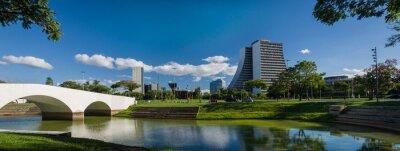 Naklejka Porto Alegre, Rio Grande do Sul, Brazil, March 29 - 2021: Beauti