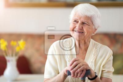 Naklejka Portrait of an elderly woman