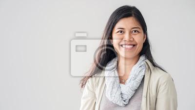 Naklejka Portrait of asian young woman