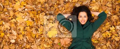 Naklejka Portrait of beautiful young brunette woman