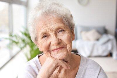 Naklejka Portrait of senior woman at home