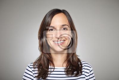 Naklejka Portret dziewczyny uśmiechnięta normalnej