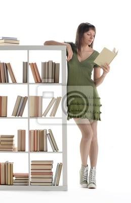 Portret Kobieta Student, poczytać książkę na bibliotece