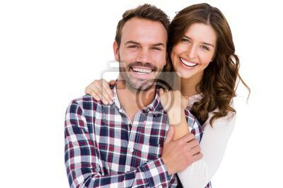 Naklejka Portret młodej pary uśmiecha