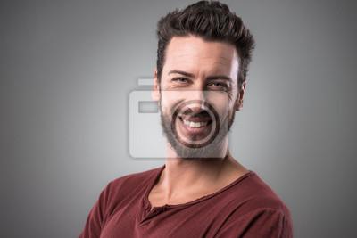 Portret wesoły człowiek