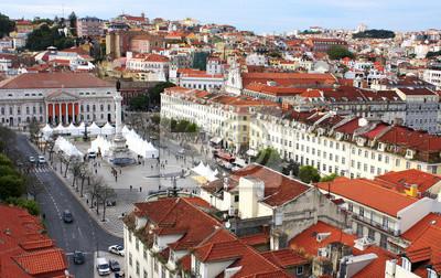 Naklejka Portugalia Widok Z Lotu Ptaka Lizbona Stolica I