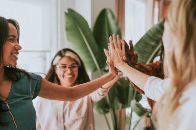 Naklejka Positive women teamwork