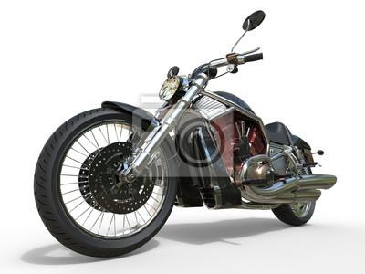 Naklejka Potężny Vintage motocykl - Red Silnik