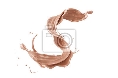 Naklejka Powitalny płyn fundacyjny, makijaż kosmetyczny.