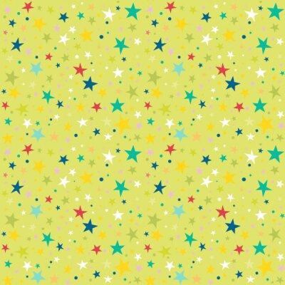 Naklejka Powtarzalny wzór z gwiazdami