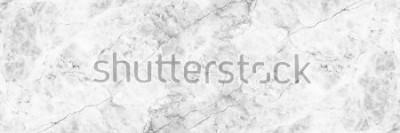 Naklejka poziomy elegancki biały marmur.