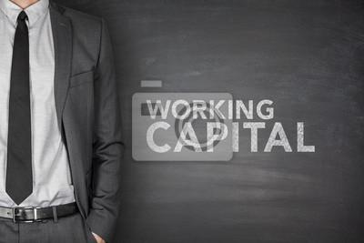 Naklejka Praca kapitału na tablicy