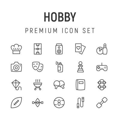 Naklejka Premium pack of hobby line icons.