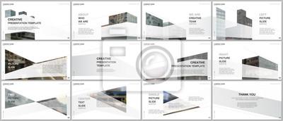 Naklejka Presentations design, portfolio vector templates with architecture design. Abstract modern architectural background. Multipurpose template for presentation slide, flyer leaflet, brochure cover, report