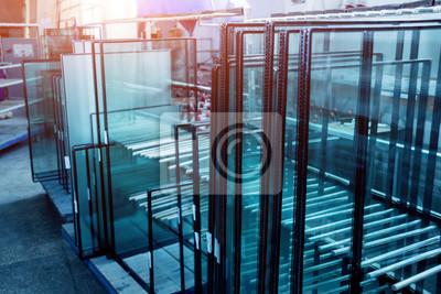 Naklejka Profil okienny wycięty z metalu, szkła i izolacji.