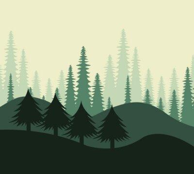 Naklejka Projekt las, ilustracji wektorowych.