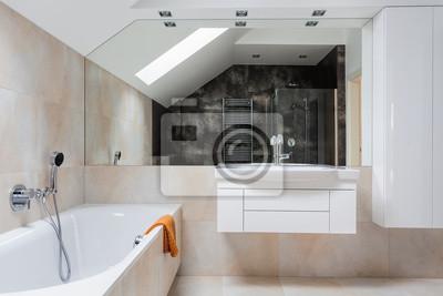 Projekt łazienki Meble Jasne Naklejki Redro