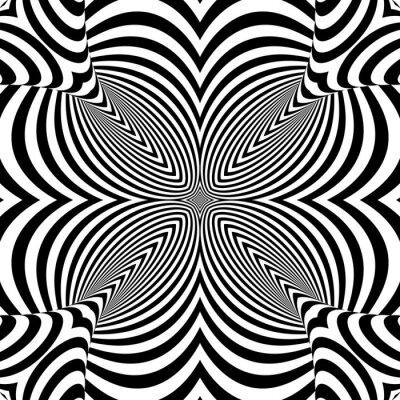 Naklejka Projekt monochromatyczne tło teksturowane złudzenie