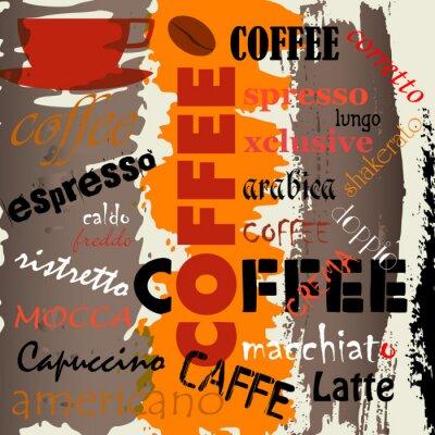 Naklejka projekt reklamy kawy / menu, wektor