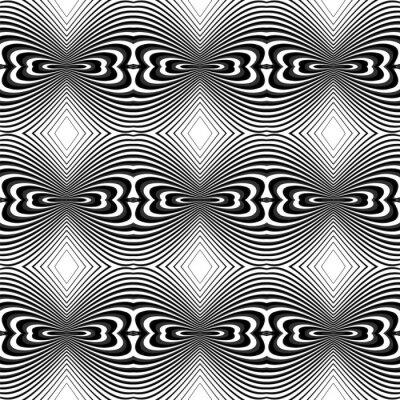 Naklejka Projekt tła bez szwu monochromatyczny iluzja