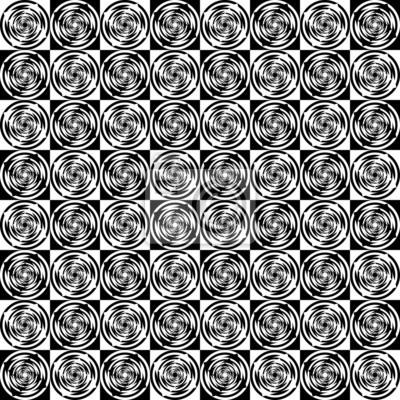 Naklejka Projektowania bez szwu monochromatyczny wzór