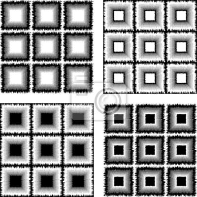Naklejka Projektowanie bez szwu deseń monochromatycznych
