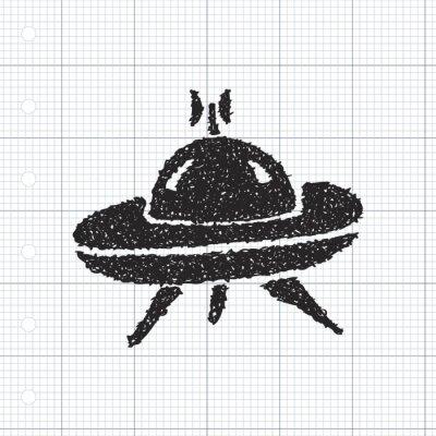 Naklejka Proste doodle z kosmicznym
