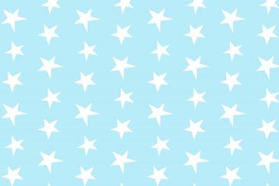 Naklejka Proste, jasnoniebieski wzór gwiazdy