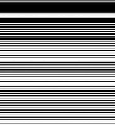 Naklejka Prosto, poziome linie wzór z losowym grubości. Czarny