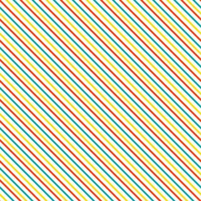 Naklejka Przekątna paskiem szwu. Geometryczne classic czerwony, niebieski i żółty cienka linia tła.