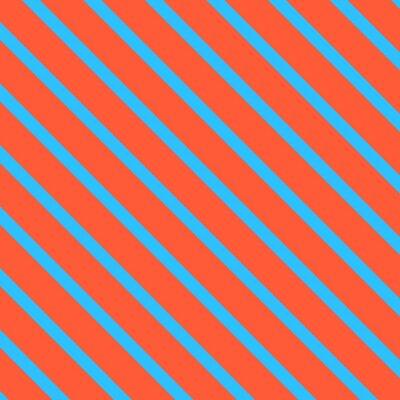 Naklejka Przekątna tle paskiem. Niebieski i pomarańczowy linia geometryczna zawijania papieru.