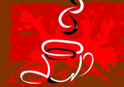 Naklejka Przerwa na kawę