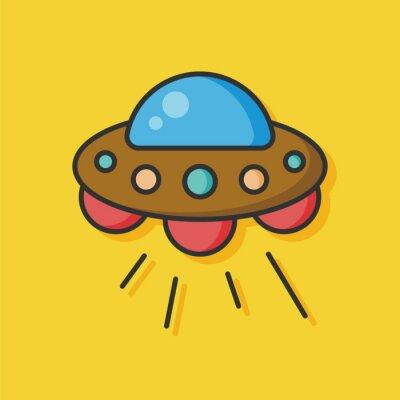 Naklejka Przestrzeń ufo wektor ikona