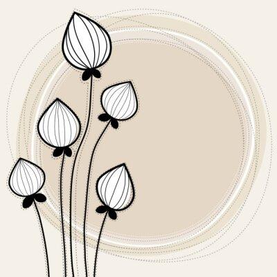 Naklejka Przyciski kwiat