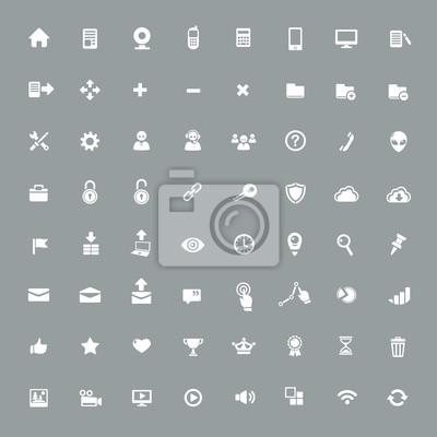 Naklejka Przydatne ikony aplikacji
