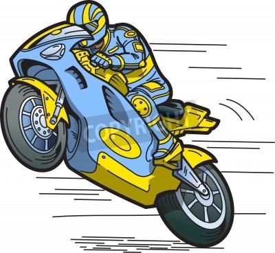 Naklejka Przyspieszenie Motorcycle Racer