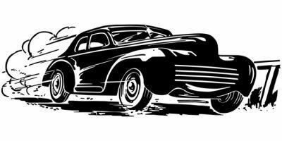 Naklejka Przyspieszenie samochodu