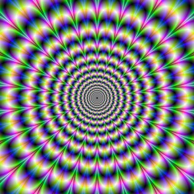 Naklejka Psychedelic Pulse w purpurowe i zielone