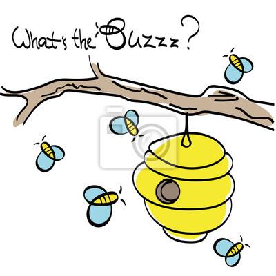 Pszczoły latające wokół Ula