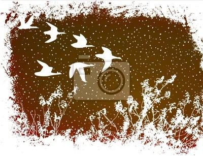 Naklejka ptaki latające