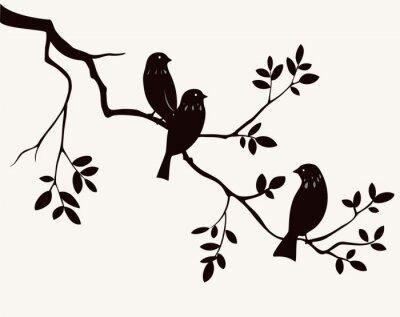 Naklejka Ptaki na gałązka