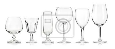 Naklejka Pusta szklanka