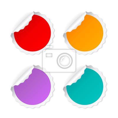 bad7d6ceb54897 Naklejka Puste wektora okrągłe naklejki na wymiar • czerwony, żółty ...