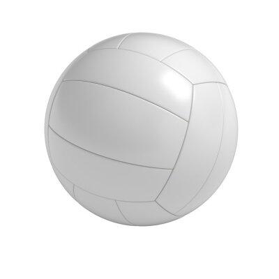 Naklejka Puste siatkówka piłka izolowanych z wycinek ścieżki