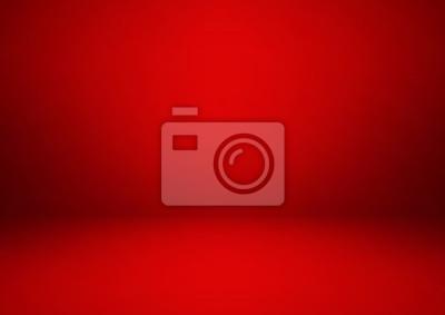 Naklejka Pusty czerwony pokój studio, używany jako tło do wyświetlania swoich produktów